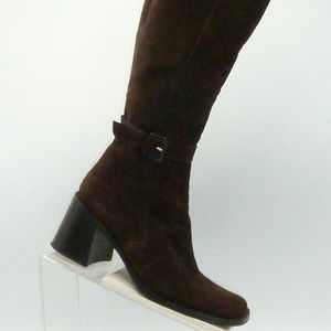 Via Spiga Size 9 M Brown Suede Boots Womens B6 E2